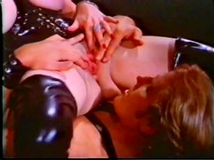 Busty Brunette Dominatrix Sodomizes a Guy and Felches Cum From Her Hands