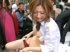 Horny Asian Teen Saori Hara Gets Her Hairy Pussy Eaten in the Office