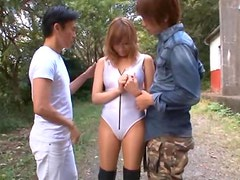 Greedy Asian Slut Kirara Asuka Gets Fucked in an Outdoor Threesome