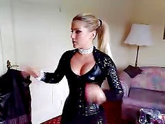 Jeanette Biedermann german singer and actress in leather