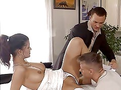 sexy german girl double fucked in front of her daddy