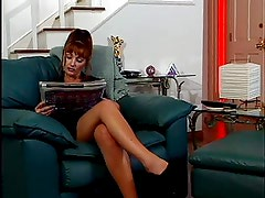 Sexy Red Head MILF Slut has Sweaty Sexy with a young guy.