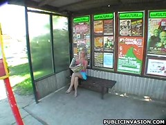 Busty Blonde Slut Shoots Her First Reality Porn Video Outdoors