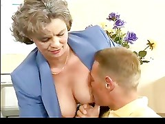 Busty Hairy Mom Needs Young Cock by TROC