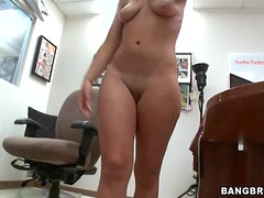 Gorgeous Blonde Teen Fucks at the Office and Shoots POV Porn Video