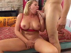 Horny blonde MILF in amazing hardcore POV video