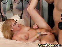 Blonde Babe Wearing Glasses Fucked Really Hard HD