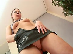 Stunning Roxy gets fucked from behind and gets a mouthful
