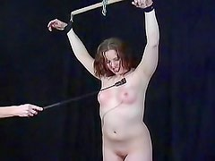 Tits and ass beaten by her master
