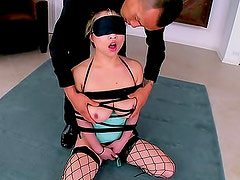 Cock gagging Asian pornstar in corset