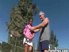 Teen Slut Fucks Her Old Tennis Coach