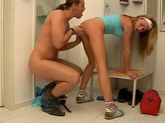 Hot Blonde Teen Fucked Hard in the Bathroom