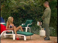 Incredible Blonde Shows This Lucky Bastard a Great Time By The Pool