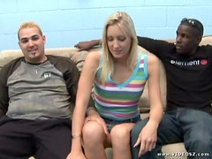 Gangbang with Angel Long and Three Guys