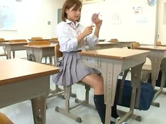 Slutty Schoolgirl gets fucked rough in an empty classroom