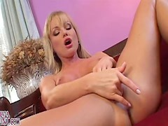 Silvia Saint entertains herself by fingering her cute pussy
