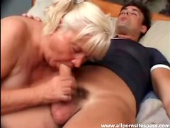 Thick dick for slutty old lady to suck on