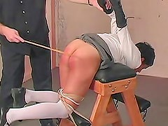 Schoolgirl caning makes her hurt so bad