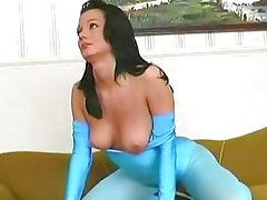 Venus is one flexible and lustful goddess fucking her pussy!