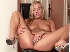 Orgasmic babe gets naked and masturbates