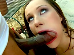 White girl is sexy as hell going interracial