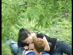 Asian Girl Playing With Russian Boyfriend Cock On Public