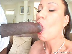 Black Monster Cock Fucks Mature Babe In The Ass