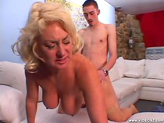 Hot Mature Blonde Gets Fucked By A Young Stud