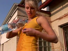Heather Wild Gets Rid Of Her Clothes And Bangs Her Wet Pussy Outdoors
