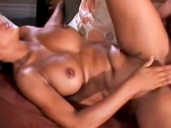 Interracial Action With Busty Black Babe