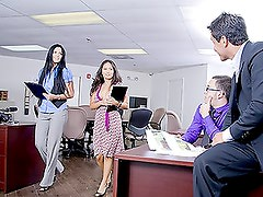 Asian MILF Sucks Cock in the Office