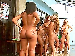 Brazilian Babes In Interracial Group Sex
