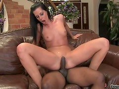 Hot-Ass Brunette Whore With Shaved Pussy Fucked by BBC.