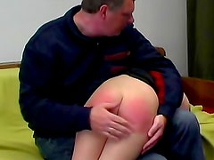Spanked ass in OTK video