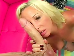 Big milf boobs make the young man horny