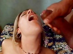 Saucy Delilah Stone gets showered with thick dick juice