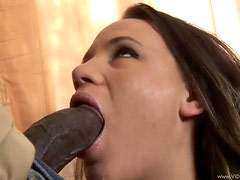 Holly Holmes Gets A Titty Cumbath From A Big Black Monster Cock