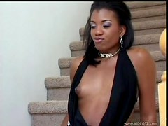 Hot Black Teen Takes On Her First Monster Cock