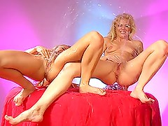 Squirting Blondes Share A Lucky Cock in FFFM Orgy!