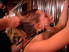 Kinky submission and hot wax play