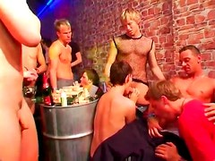 Smooth hard young guys in anal orgy