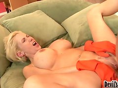 Big Titty MILF Keeps Her Laundry Gloves On For Some Sex