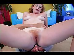 Redhead Cherry Gets Her Furry Bush Fucked P.O.V.