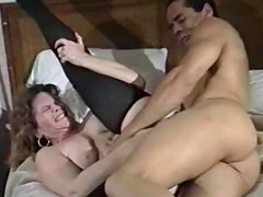 Horny brunette mature nailed in hairy box