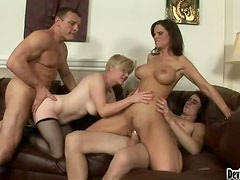 Bisex Foursome Going At It.