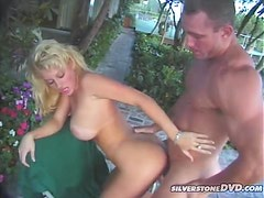 Hot Oral and Hardcore Sex Outdoors with Busty Blonde Vixen