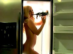 Aaliyah Love naked in the refrigerator