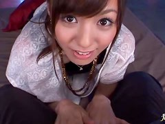 POV video with hot Aino Kishi getting fucked and facialed
