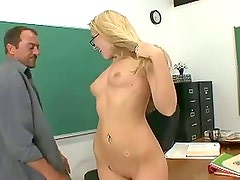 Awesome blonde schoolgirl xxx near lecturer