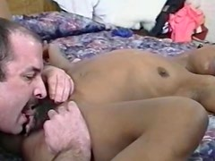 Black girl with dark pubic hair fucked